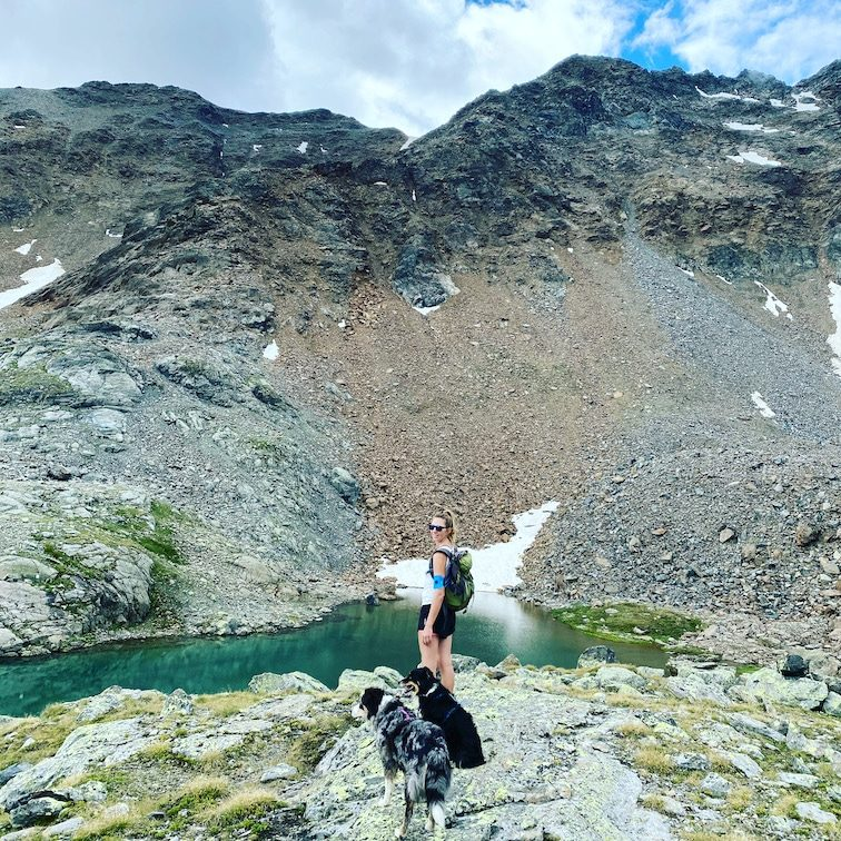 Optimismus_Corona Wandern mit Hund Kaunertal Camping Ötztaler Alpen Tirol verborgener See