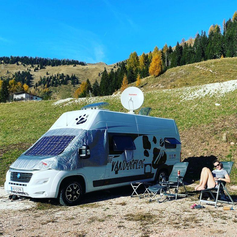 Camping Vanlife Wohnmobil Kastenwagen Knaus Trentino Italien Urlaub Camper Roadtrip