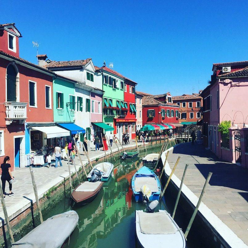 Laguna Nord Lagune von Venedig Burano Ausflug Boot